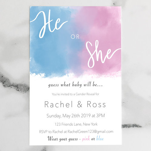 Gender Reveal- He or She?