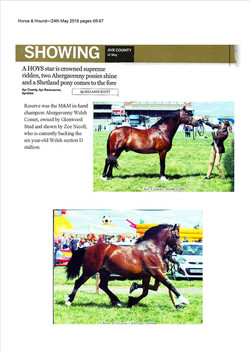 Horse & Hound article May 2018