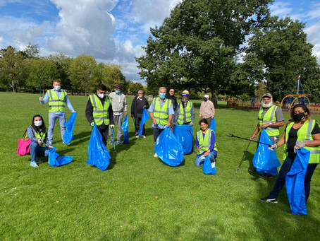 Litter Picking in our local Parks
