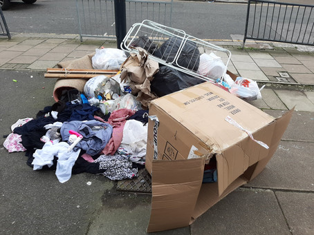 Fly-tipping in Berkeley Road