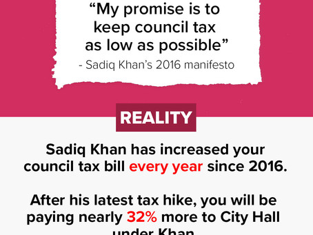 Sadiq Khan breaks his promise