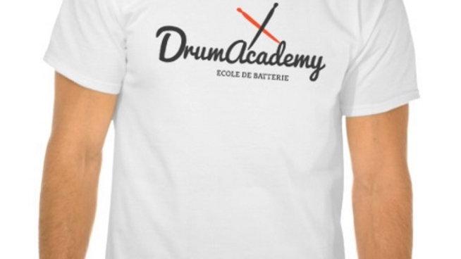 T-shirt Drum Academy Blanc