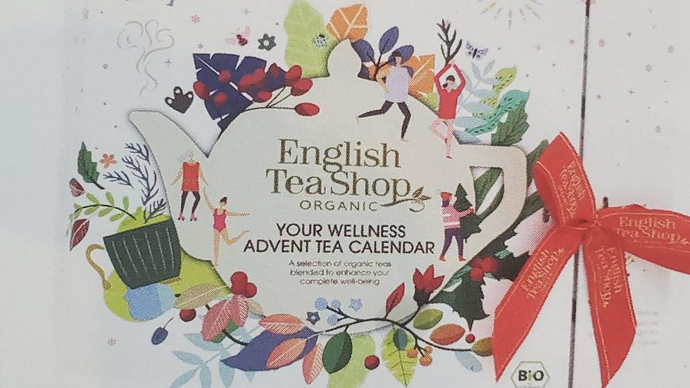 English Tea Shop Organic Book Style Advent Calendar White