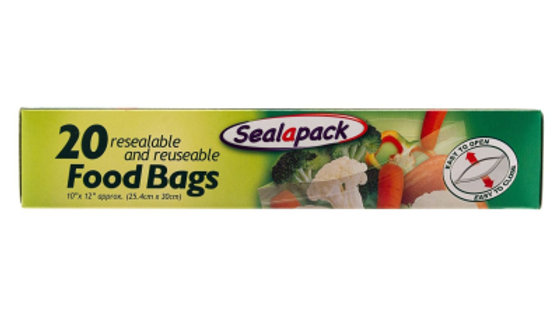 Sealapack Food Bags (20) 254mm x 300mm