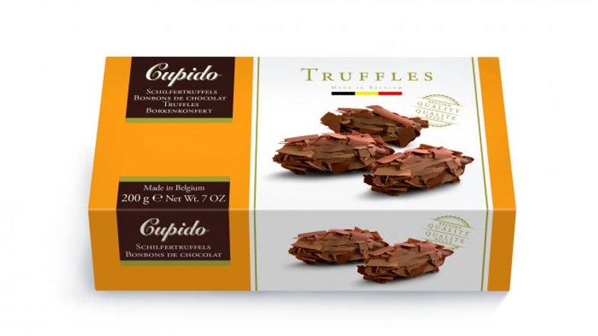 Cupido Belgium Chocolate Milk Flaked Truffles 200g