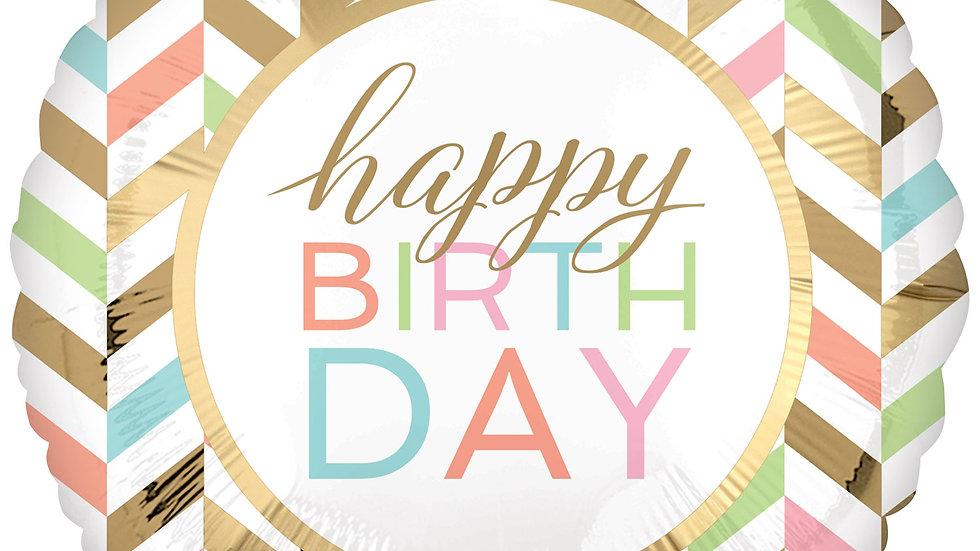 Happy Birthday Confetti Fun Jumbo Foil Balloon