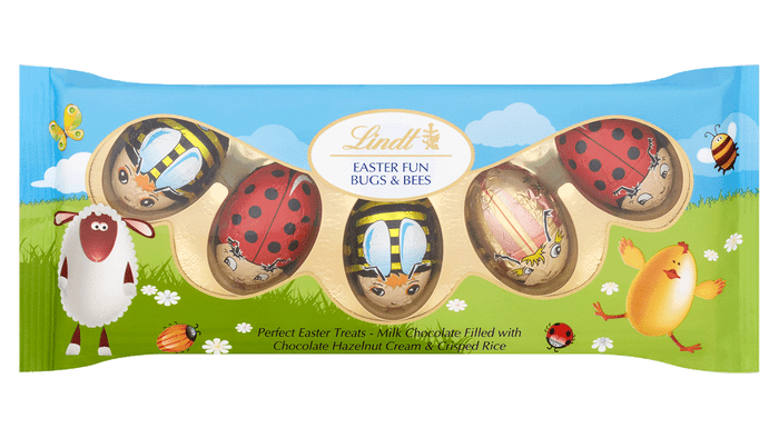 Lindt Milk Chocolate Bugs & Bees 5 Pack 50g
