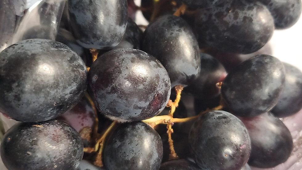 Black seedless grapes (loose guide) 500g