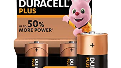 Duracell Plus Batteries C Size 2 Pack