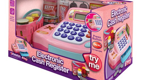 Peterkin Toy Electronic Cash Register Pink