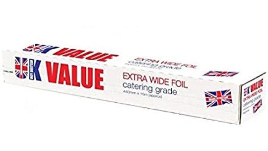 UK Value Extra Wide Foil 440mm x 15m