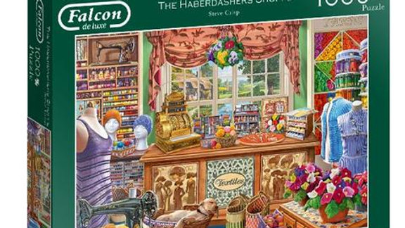 "Falcon de luxe Jigsaw Puzzle ""The Haberdashers Shoppe"" 1000 piece"
