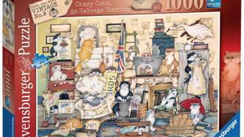 Ravensburger Jigsaw Puzzle 1000 Piece - Crazy Cats Go Salvage Hunting