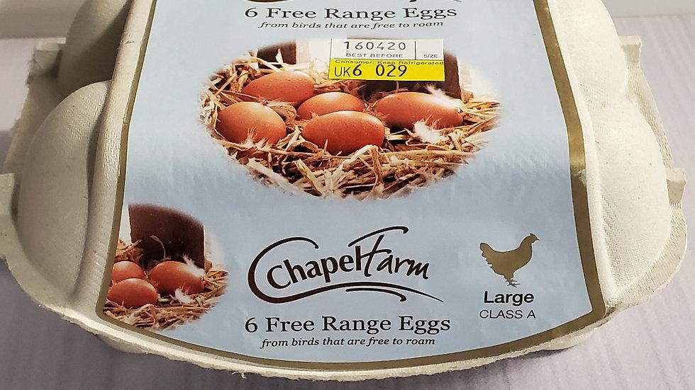 Chapel Farm Free Range Eggs Large Size (6)