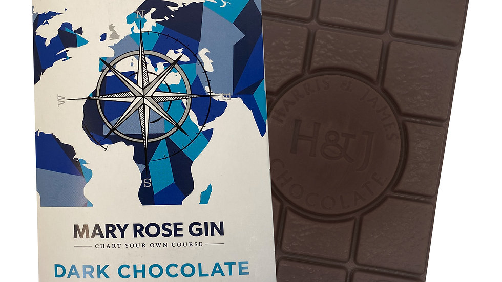 Harris & James Mary Rose Gin Single Farm 70% Cocao Chocolate Bar 86g