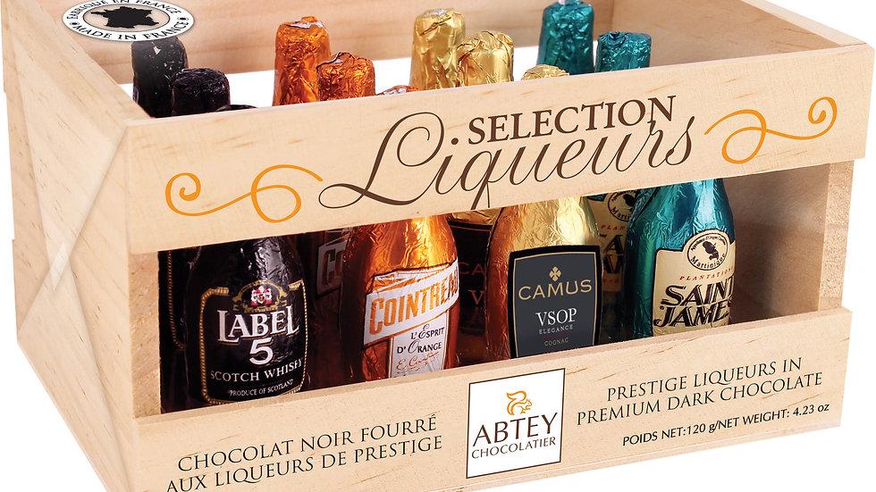 Abtey Senior Liqueur Selection 12 Miniature Bottles in Wooden Crate 155g
