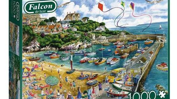 """Falcon de luxe Jigsaw Puzzle """"Newquay Harbour"""" 1000 piece"""