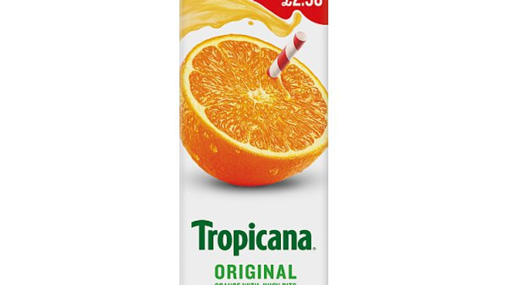 Tropicana Orange Juice Original with Juicy Bits 850ml PM£2.50