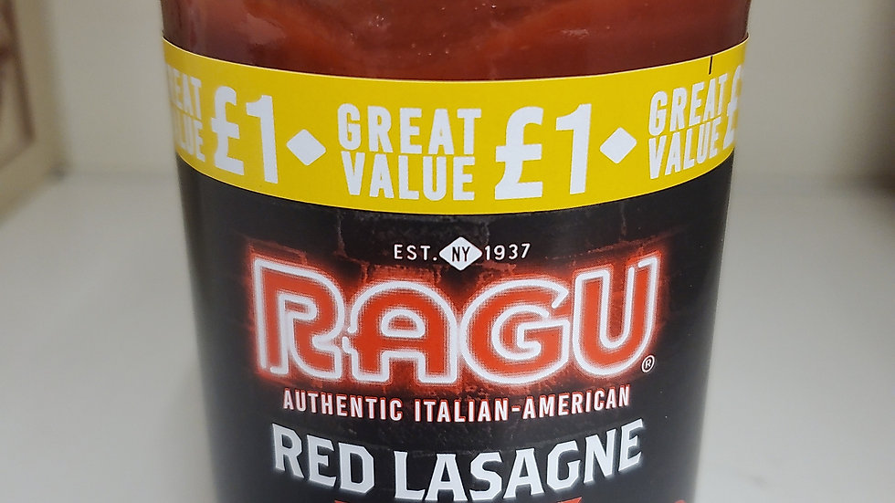 Ragu Red Lasagne Sauce 500g Price Marked £1