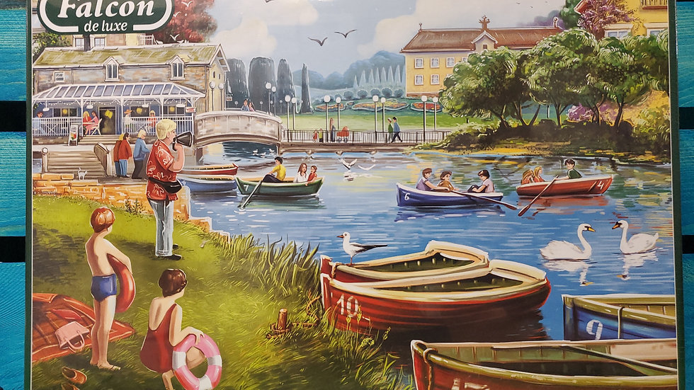 "Falcon de luxe Jigsaw Puzzle ""The Boating Lake"" 1000 piece"