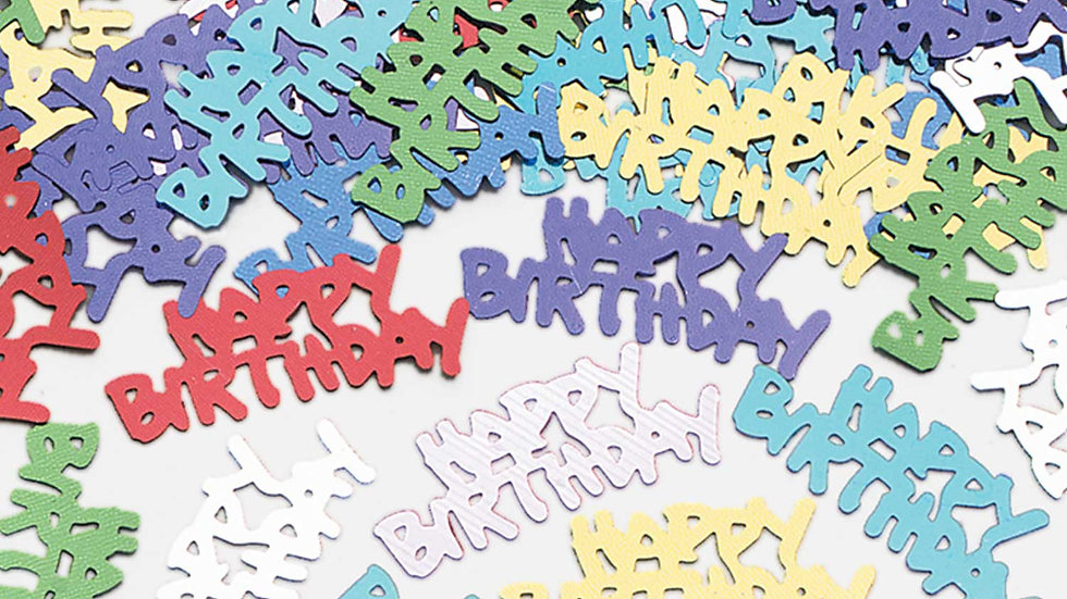 Happy Birthday Metallic Confetti 14g
