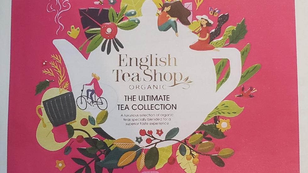 English Tea Shop Organic Ultimate Tea Collection Gift Tin Pink