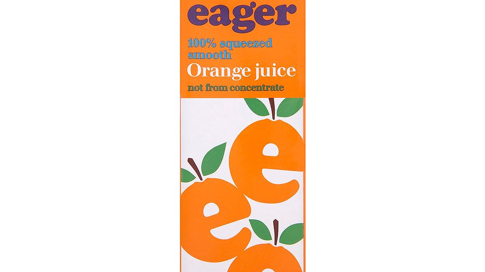 Eager Orange Juice Smooth 1lt