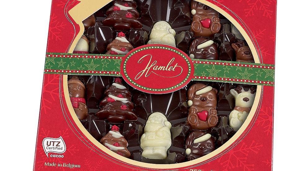 Hamlet Belgium Decorated Chocolate Assortment Figures with Hazelnut Filling