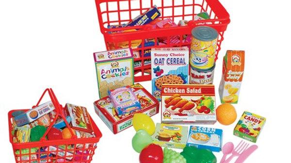Peterkin Toy Play Grocery Basket