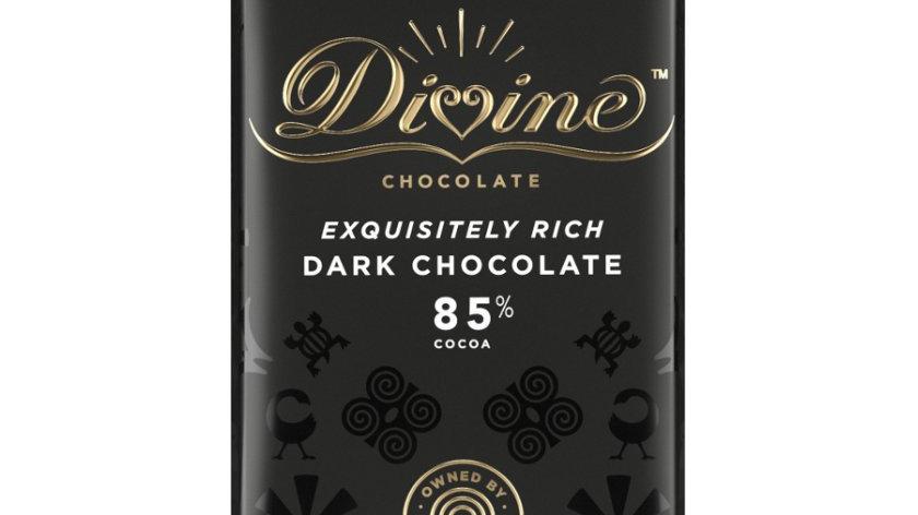 Divine Chocolate Dark 85% Cocoa 90g