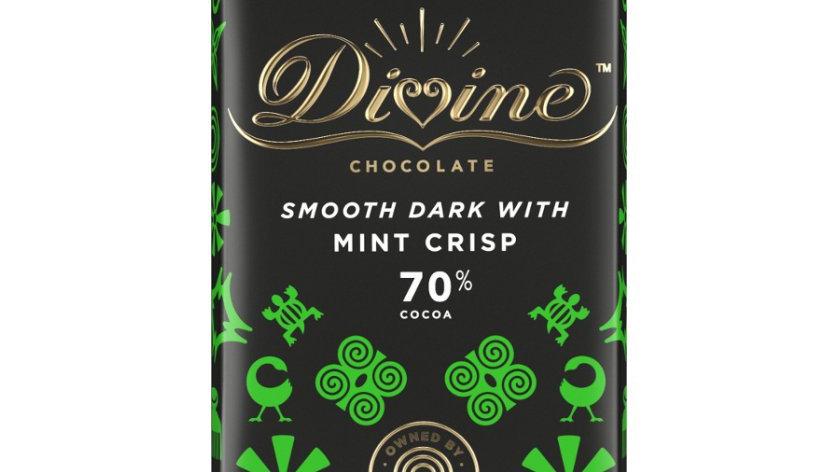 Divine Chocolate Dark with Mint Crisp 90g