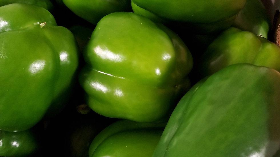 Fresh Green Capsicum Sweet Pepper (each)