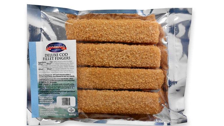 Chapman Deluxe Cod Fillet Fish Fingers 480g