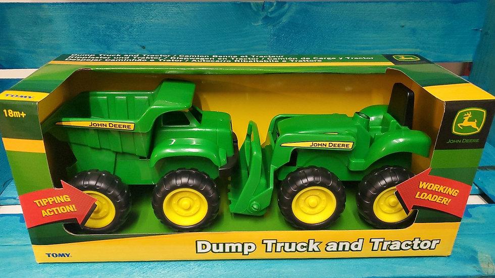 Tomy John Deere Dump Truck & Tractor Set 18m+