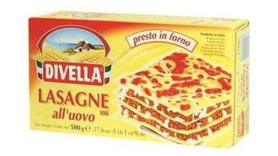 Divella Lasagne all' uovo (with egg) N108 500g