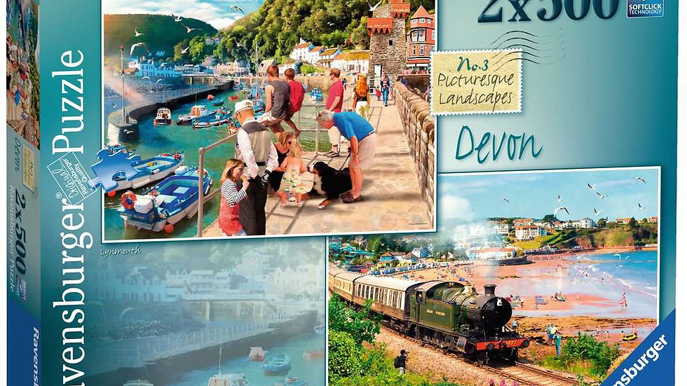 Ravensburger Jigsaw Puzzles 2x500 Piece - Picturesque Devon