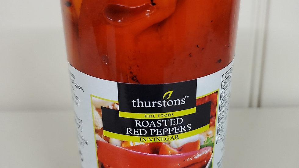 Thurstons Roasted Red Peppers in Vinegar 480g