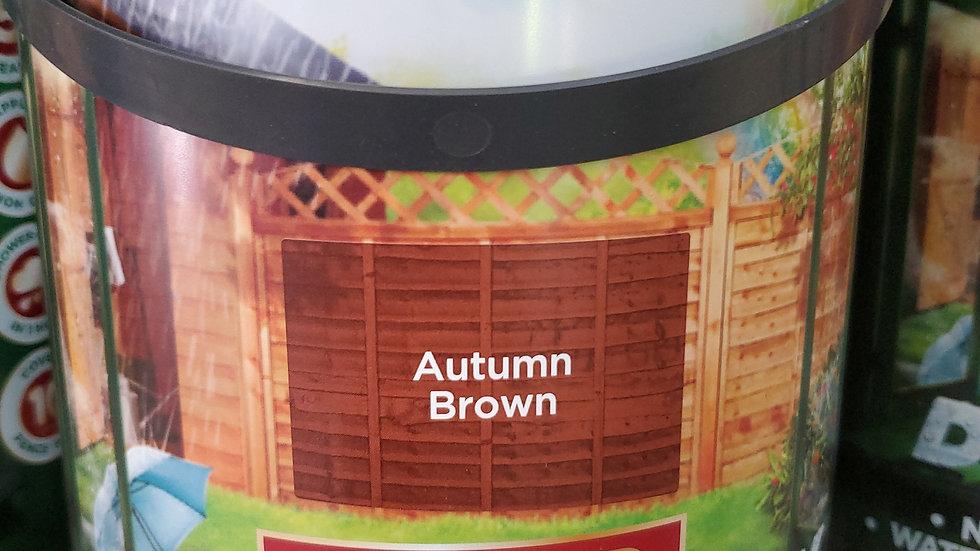 Cuprinol Ducksback Shed & Fence Treatment 5 litre - Autumn Brown