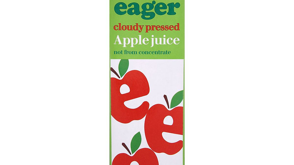 Eager Cloudy Apple Juice 1lt