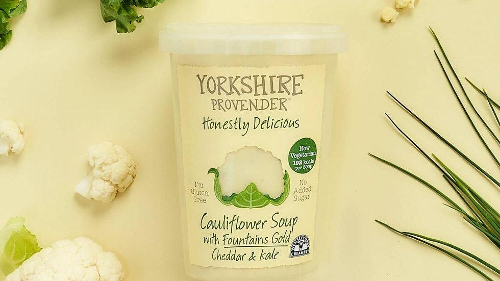 Yorkshire Provender Fresh Soup Cauliflower with Cheddar & Kale 600g