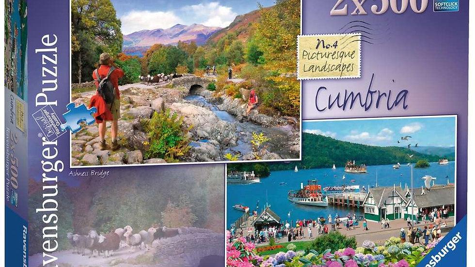 Ravensburger Jigsaw Puzzles 2x500 Piece - Picturesque Cumbria