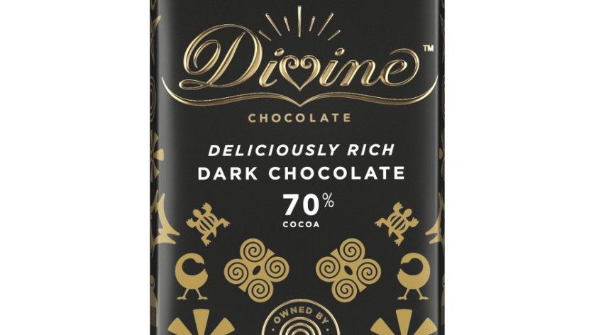 Divine Chocolate Dark 70% Cocoa 90g