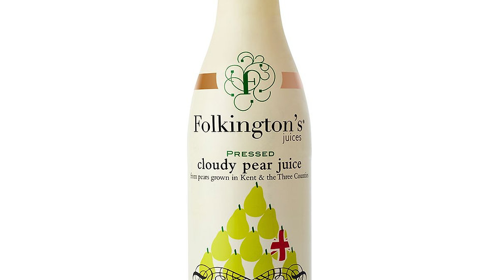 Folkingtons Pressed Cloudy Pear Juice 1lt