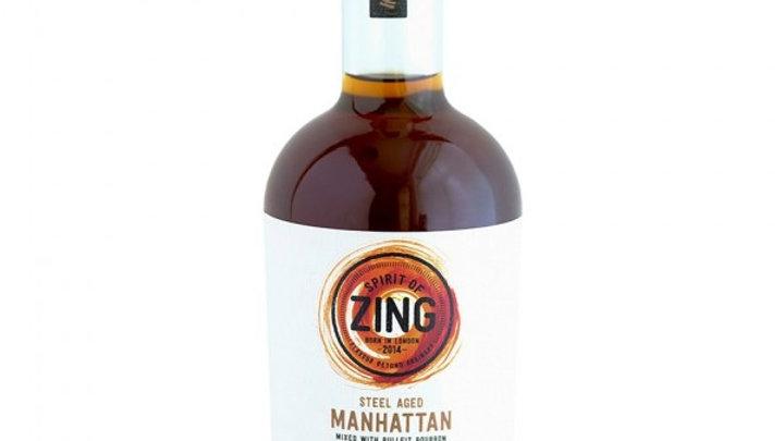 Zing Steel Aged Manhattan mixed with Bulliet Bourbon 36% ABV 500ml