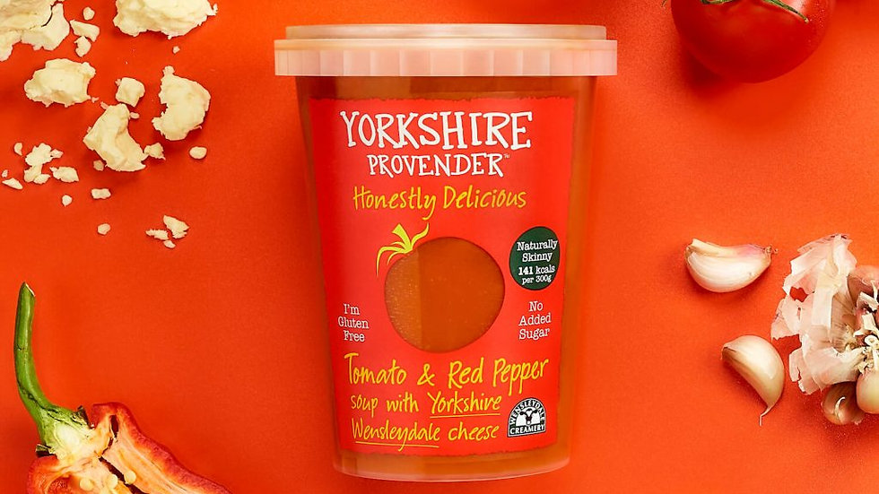 Yorkshire Provender Fresh Soup Tomato & Red Pepper with Wensleydale 600g