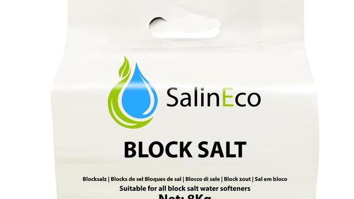 SalinEco Block Salt for all Block Salt Water Softener (2x4kg Pack