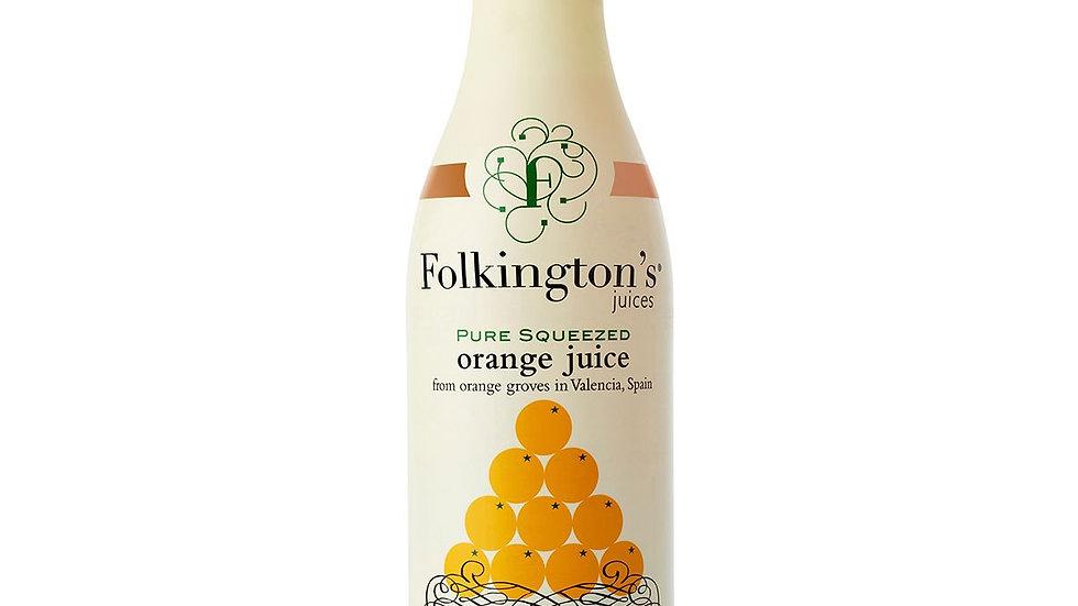 Folkingtons Pure Squeezed Orange Juice 1lt