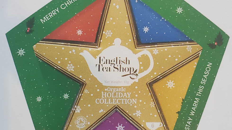 English Tea Shop Organic Holiday Collection Gold Star Gift Pack