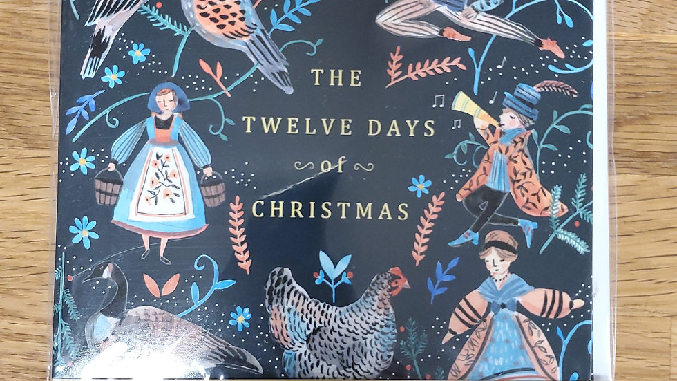 Almanac Gallery Charity Christmas Cards 8 Pack - The Twelve Days