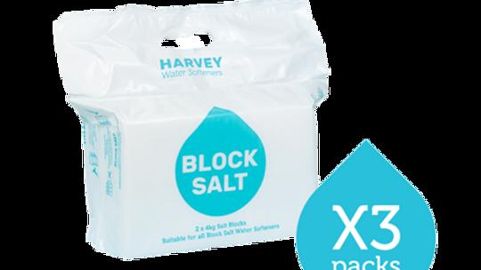 Harvey Kinetico Block Salt MULTIBUY OFFER 3 packs (2x4kg pack)